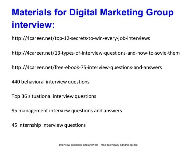job interview questions and answers pdf - Asliaetherair