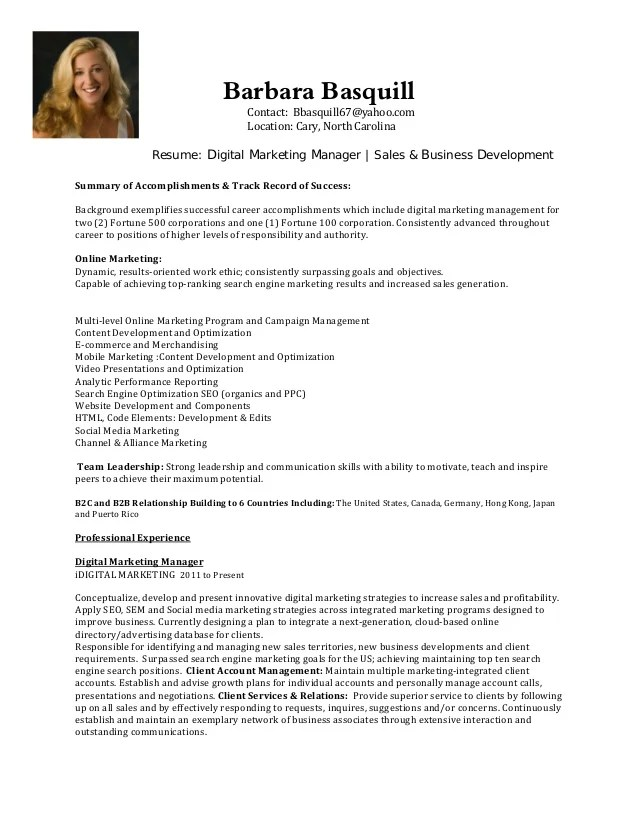 business marketing resumes - Alannoscrapleftbehind - sample resume for marketing