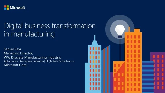 Manufact Digital Transformation In Manufacturing