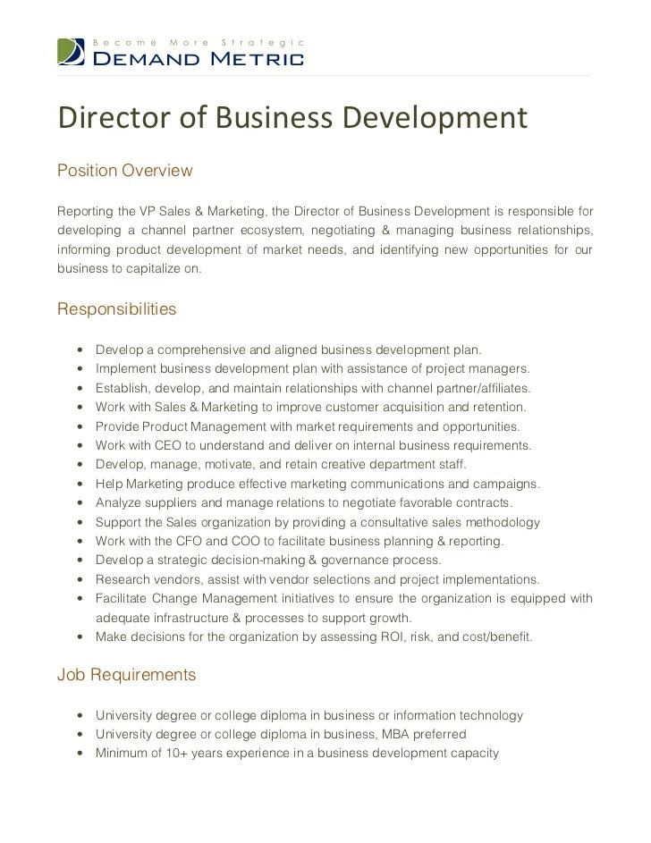 resume of business development manager - Towerssconstruction