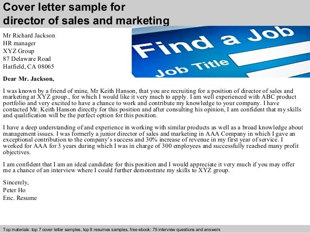 sales and marketing cover letters - Josemulinohouse - sample marketing cover letter