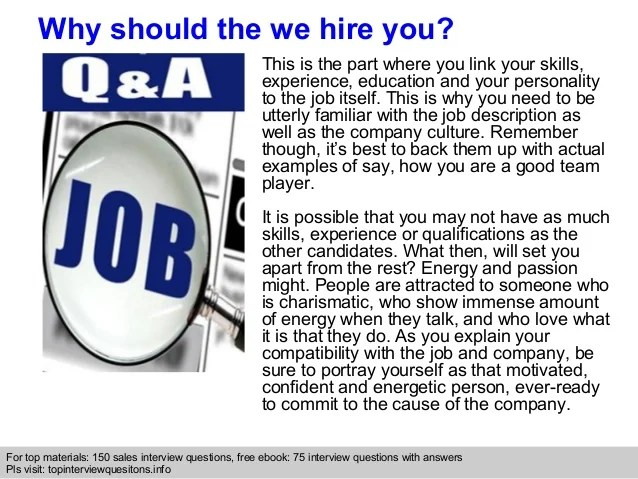 why should i hire you examples - Onwebioinnovate