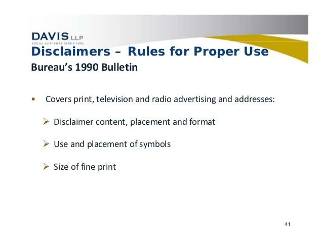 disclaimer format - Solidgraphikworks