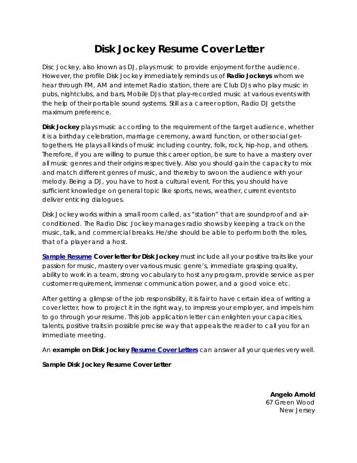 cover letter for music industry - Minimfagency