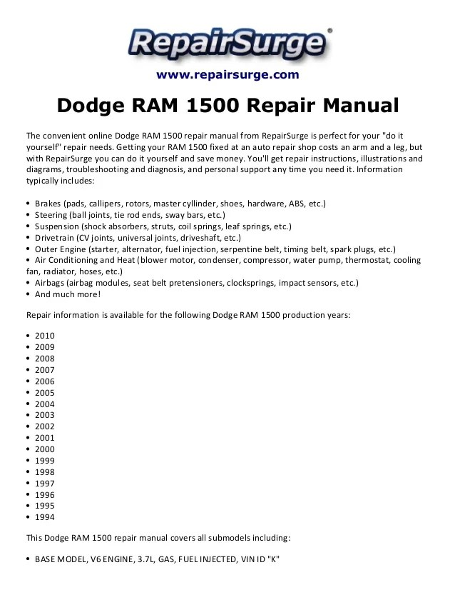Dodge 1500 Alternator Schematic Index listing of wiring diagrams