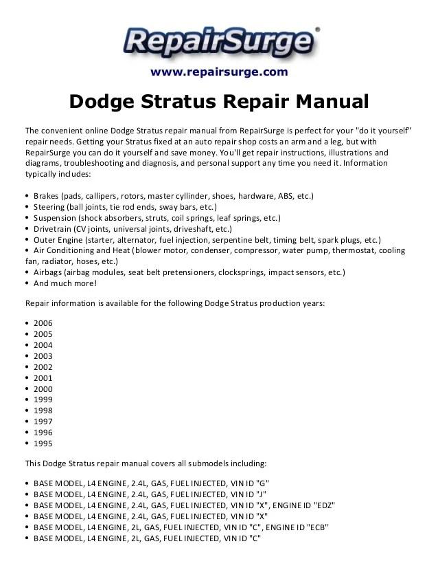 Engine Diagram 2000 Dodge Stratus - Automotive Circuit Diagram