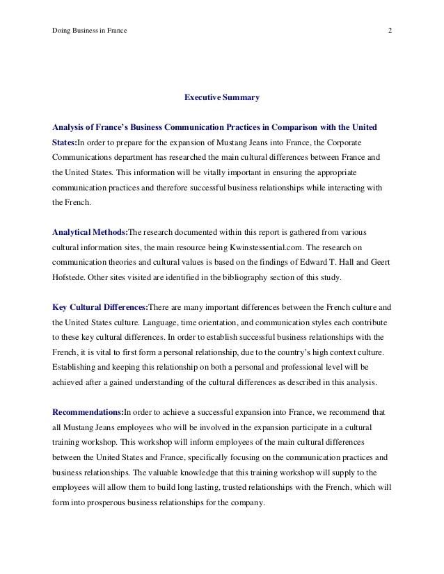 business report example - Josemulinohouse - business report format example