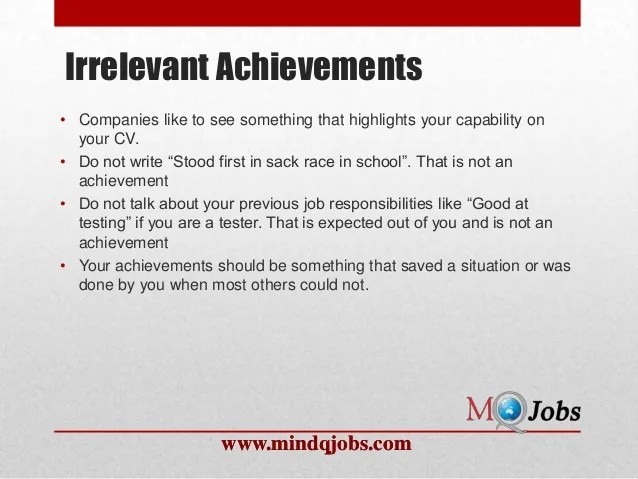 how to write achievements in resumes - Minimfagency - resume achievements