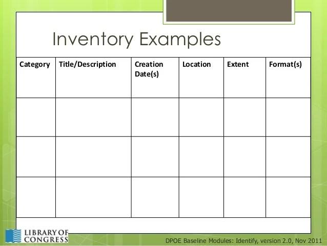 inventory format - Apmayssconstruction