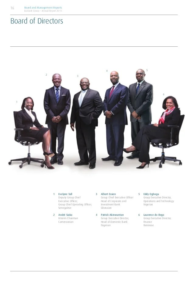 Ecobank annual report 2013