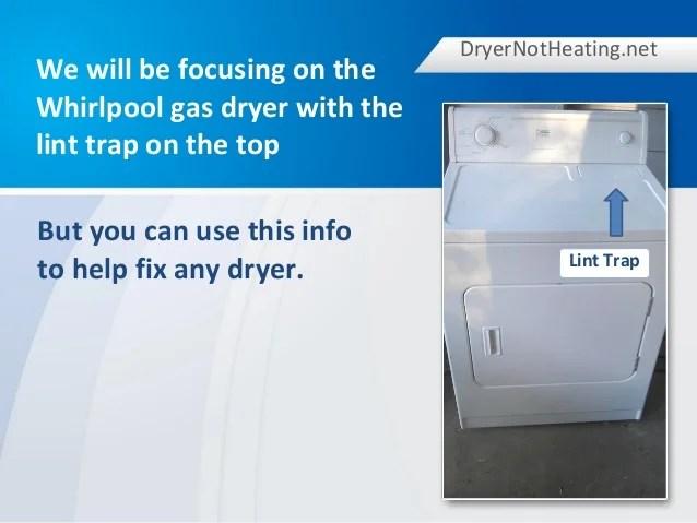 whirlpool gas dryer not heating - Pinarkubkireklamowe