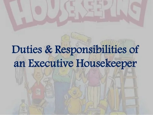 ... Peterpanplayersorg Housekeeping Duties And Responsibilities    Baskanidai ...