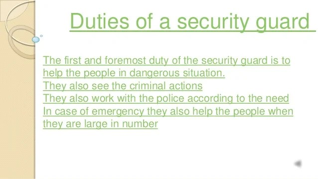 responsibilities of a security officer - Bire1andwap
