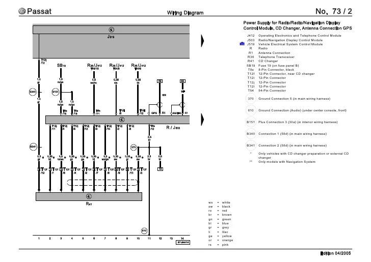 vw passat b7 wiring diagram