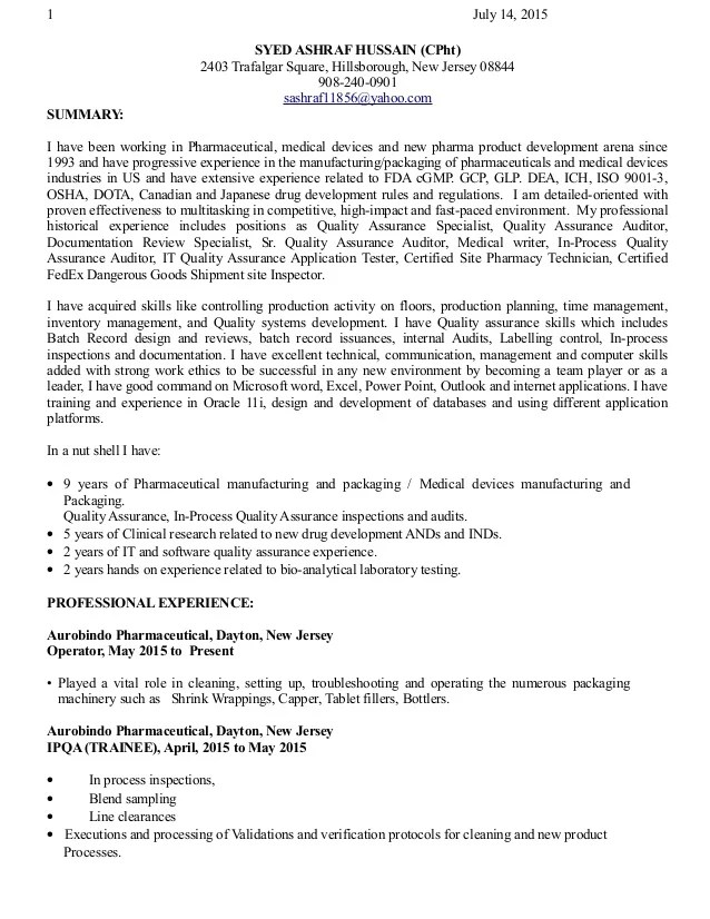 Gcp Auditor Sample Resume Compliance Auditor Sample Resume