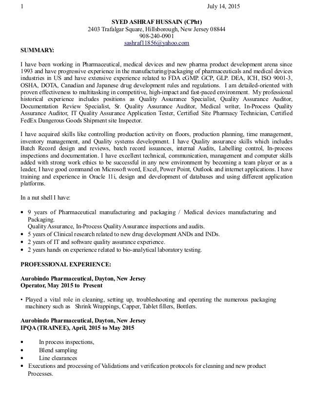 field assurance coordinator professional qa specialist resume quality assurance specialist