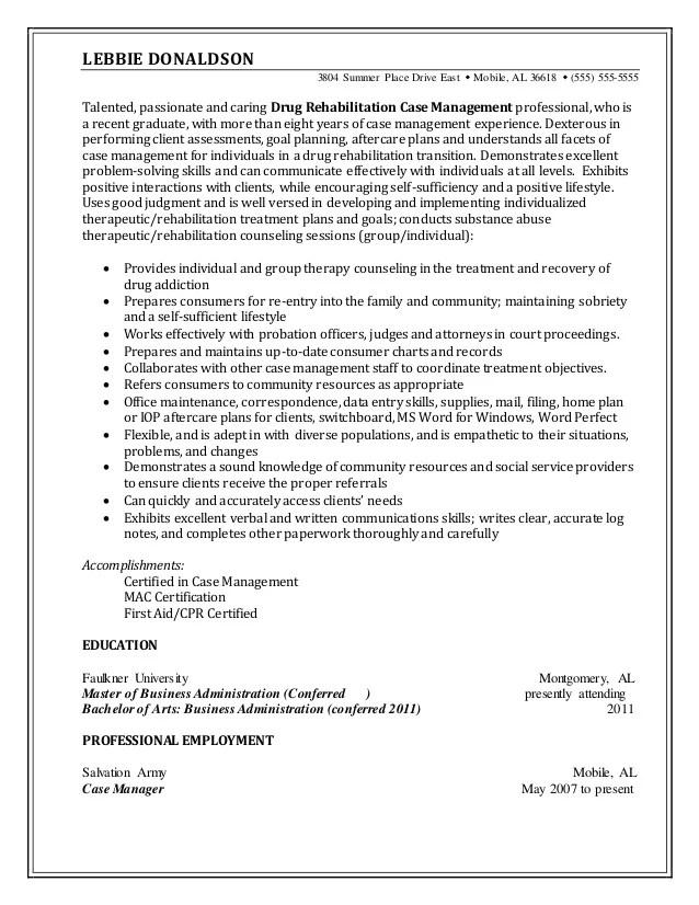 certified case manager resume - Eczasolinf - sample case manager resume