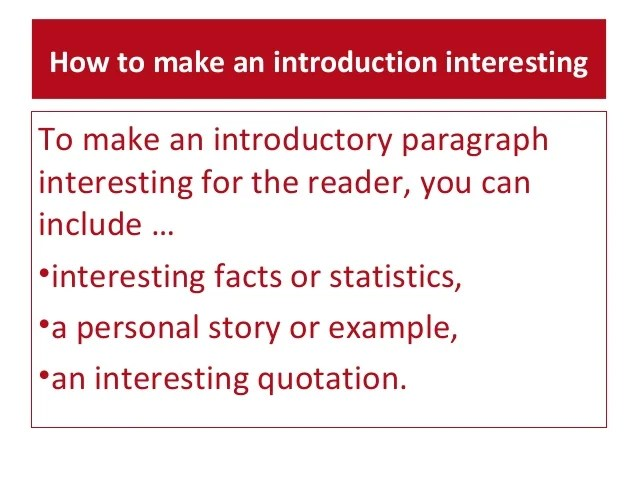 how to make a introduction paragraph - Gottayotti - how to make a introduction paragraph