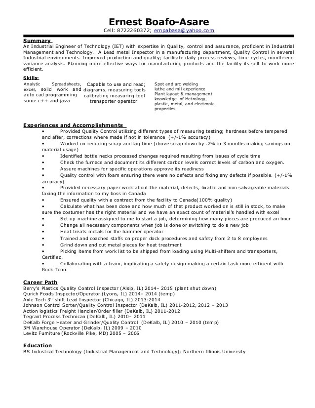Best Resume Template Yahoo What Your Resume Should Look Like In 2017 Money Ernest Professional Industrial Engineering Of Technology