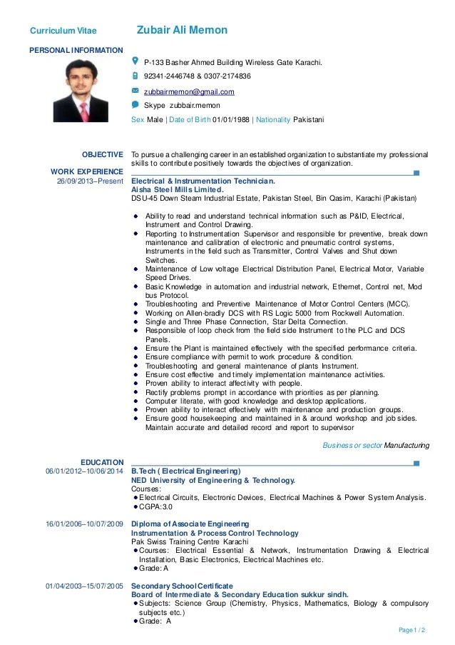 should a cv be one or two pages