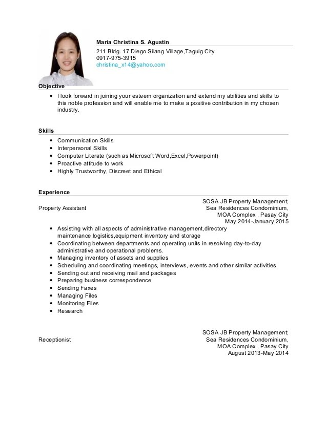 objective for resume examples yahoo