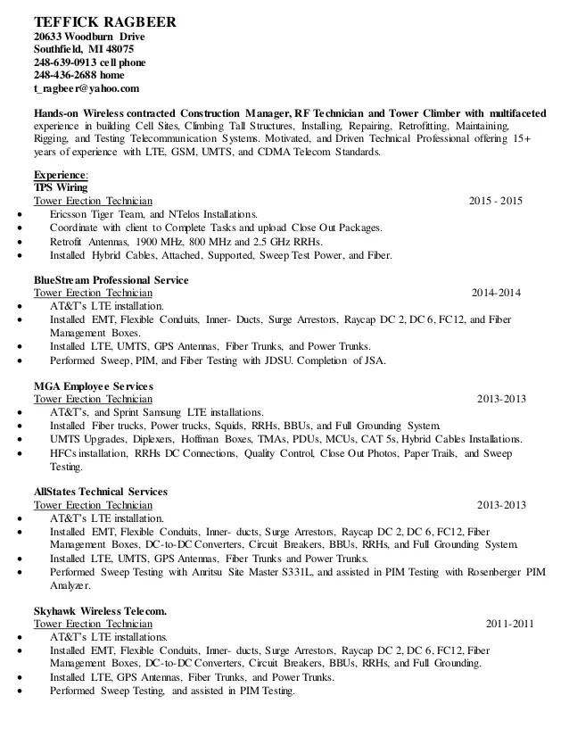 telecommunication specialist resume - Funfpandroid - telecommunication specialist resume