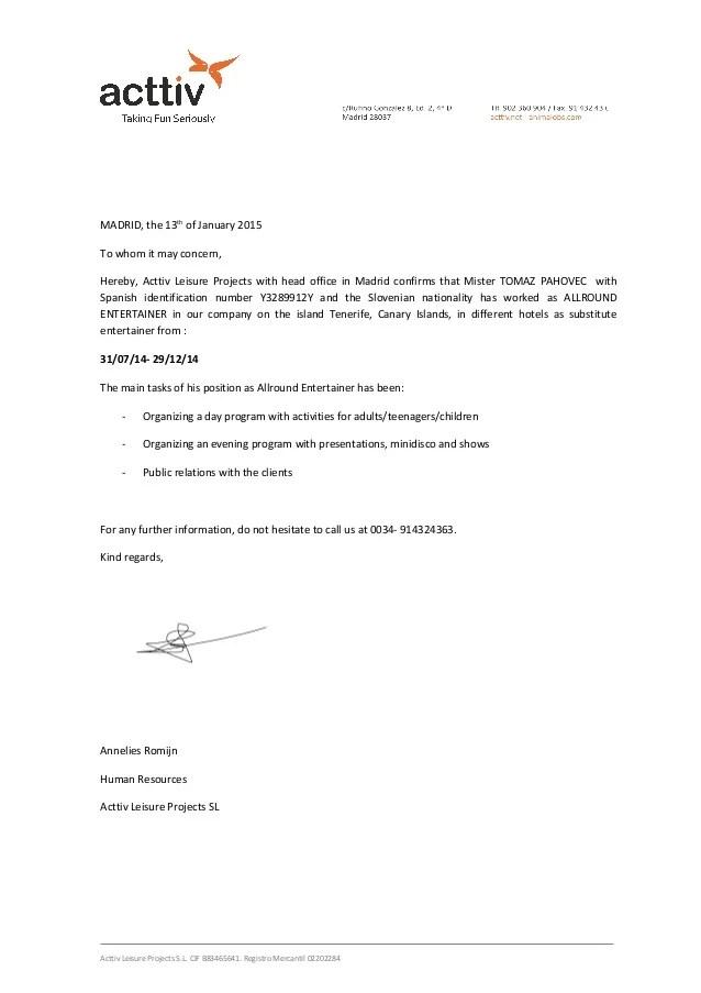 carta de recomendacion a un amigo - Josemulinohouse