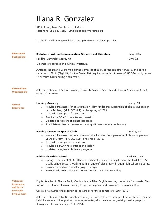 slpa sample resume