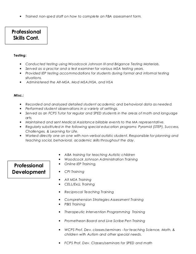 autism resume - Josemulinohouse