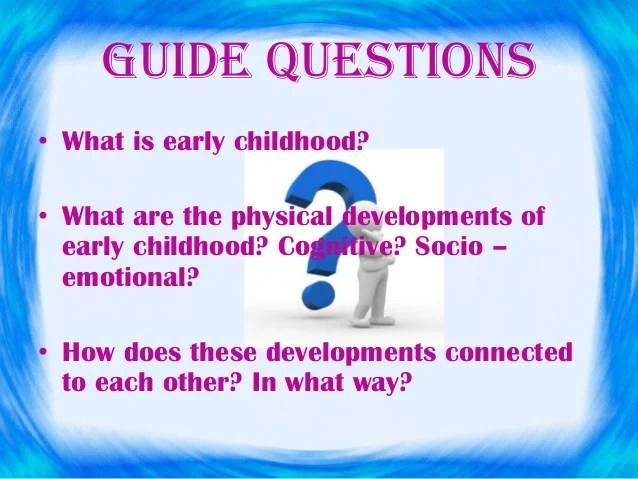 physical developments in early childhood