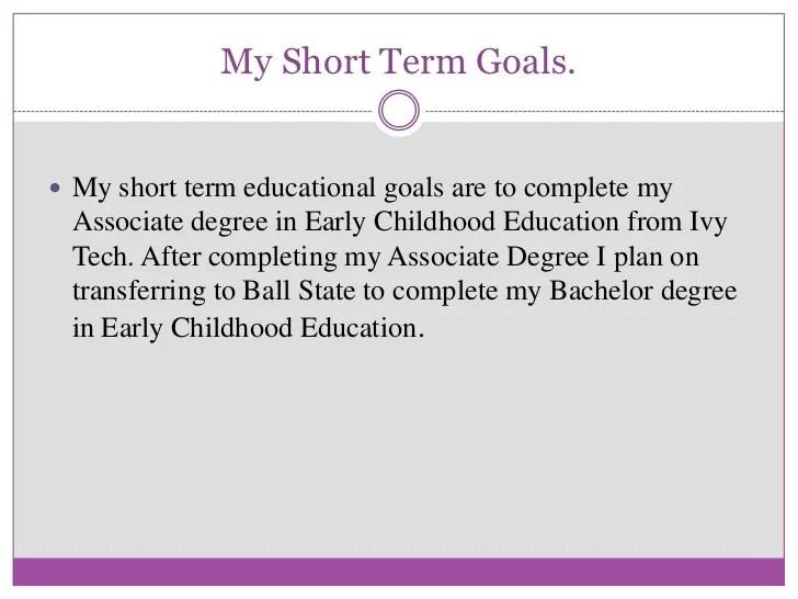 long term career goals sample - Apmayssconstruction