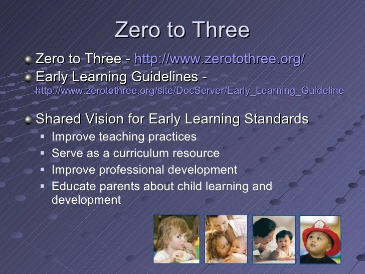 Infant Toddler Learning And Development Program Guidelines Early Learning Standards