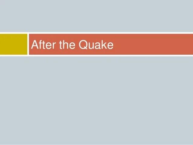 Earthquake Preparedness Ppt