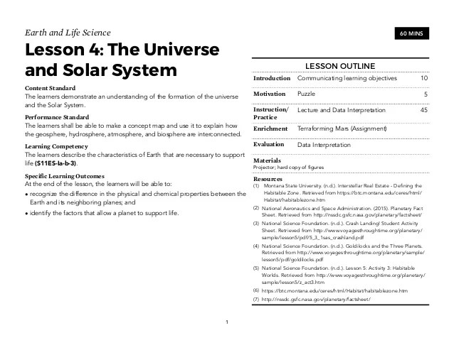 Earth Science Teaching Guide