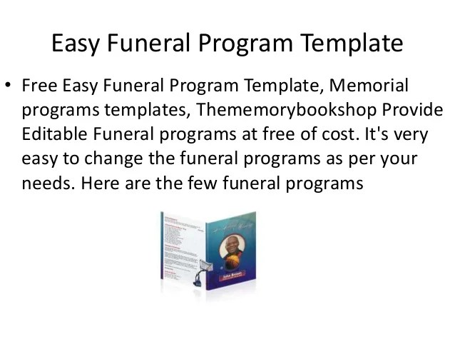 Free Funeral Program Template – Funeral Checklist Template