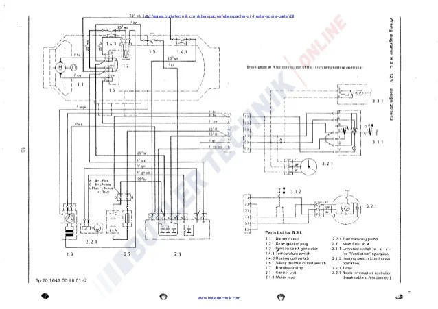 eberspacher d3l wiring diagram