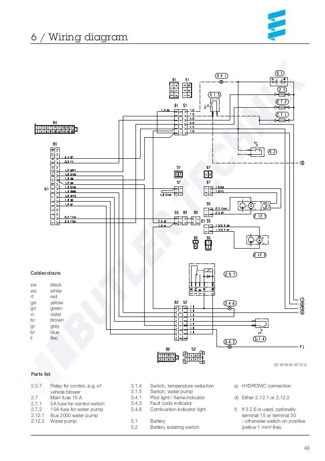 eberspacher 801 control wiring diagram