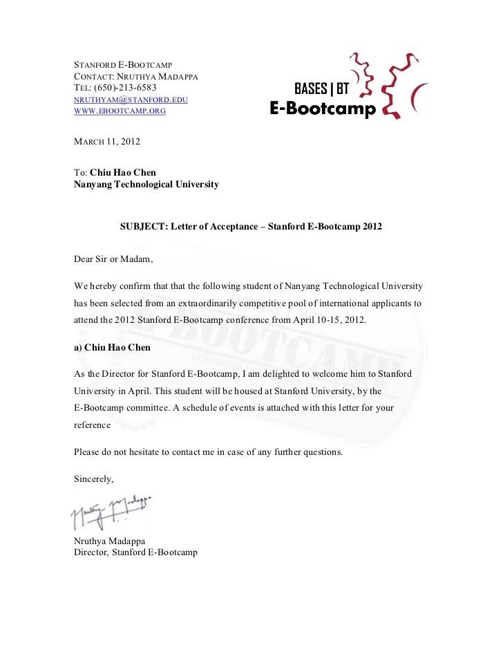 Resignation Letter For Receptionist Letter Format E Bootcamp Acceptance Letter