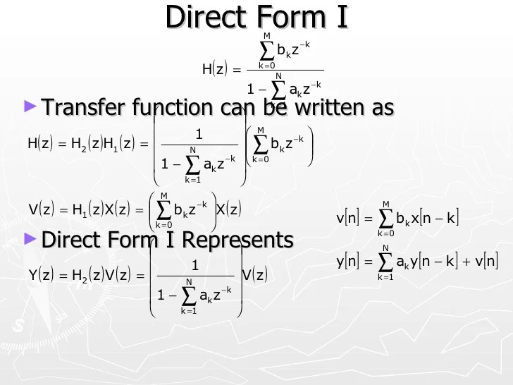 block diagram difference equations