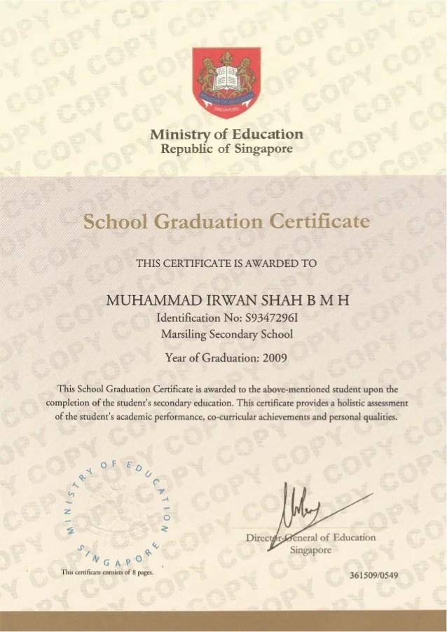 school graduation certificate - Minimfagency