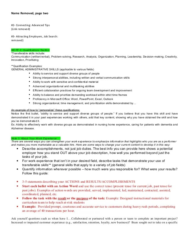 resume action words collaborate