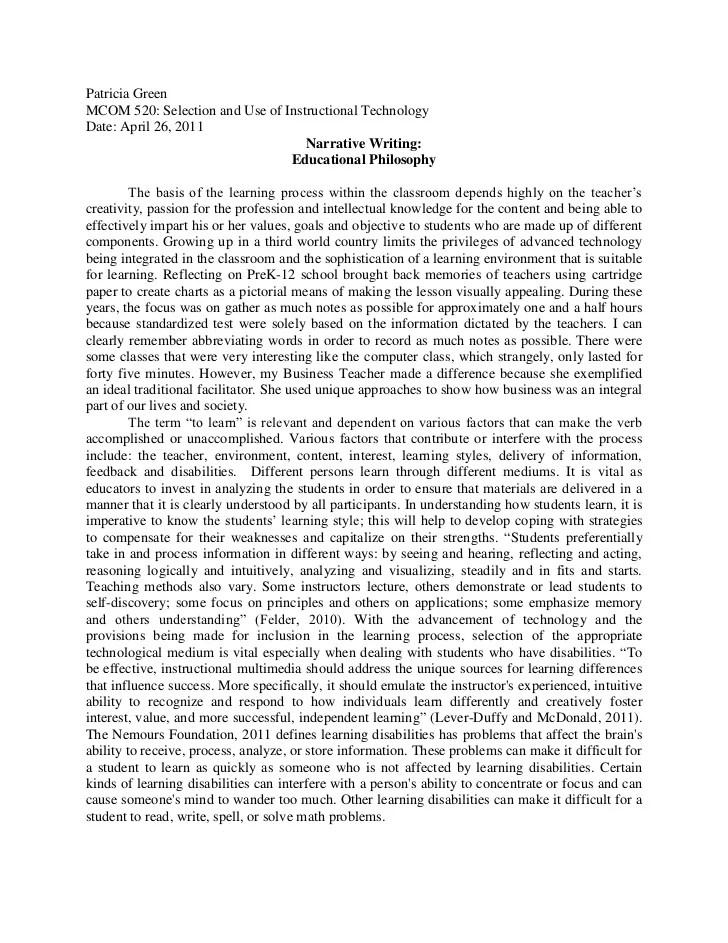 philosophy on education essay - Apmayssconstruction