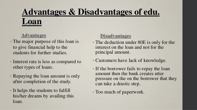 Education loan