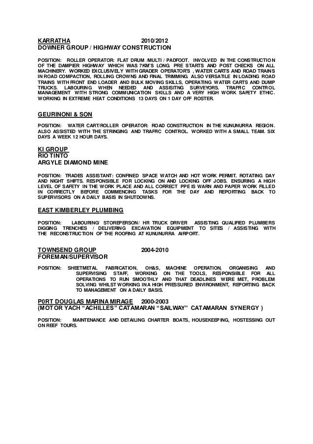 mining resume examples - Bire1andwap - Mining Resume Examples