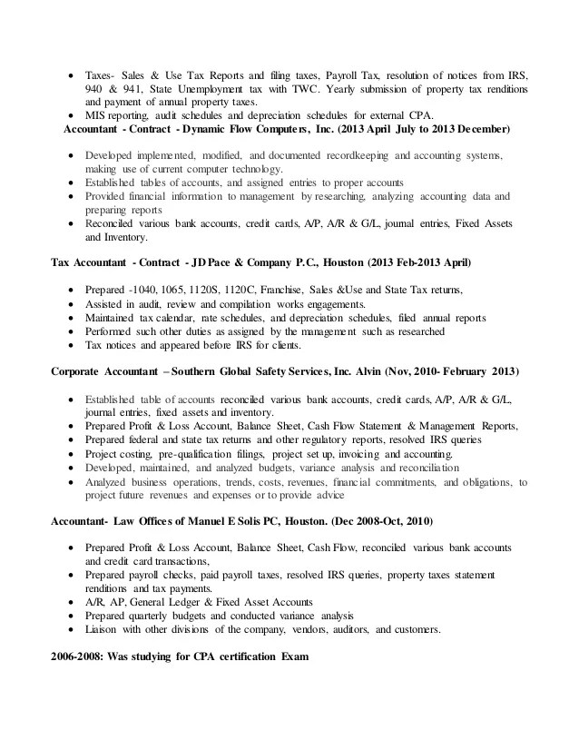 tax analyst sample resume sales and use tax accountant jennifer - Sample Resume Tax Analyst
