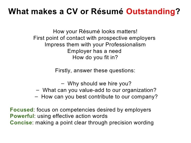 Resume Writing Format | Professional Resumes Sample Online