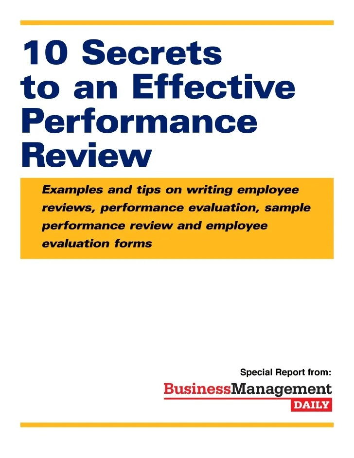 sample year end performance reviews