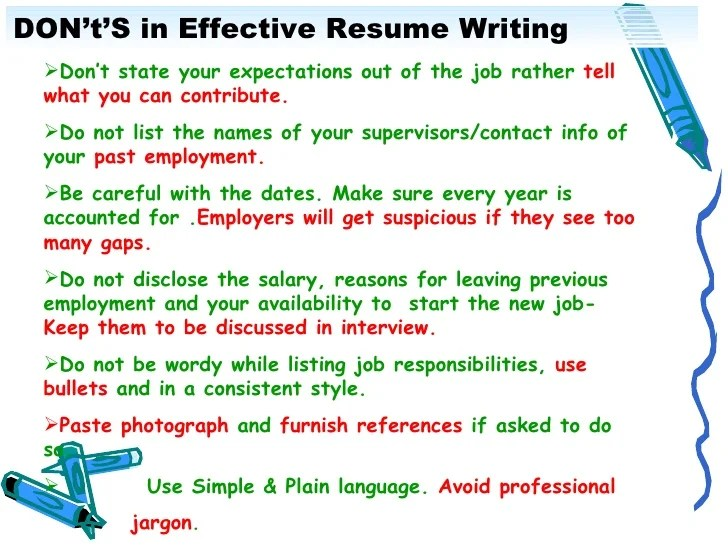 writing effective resumes - Doritmercatodos