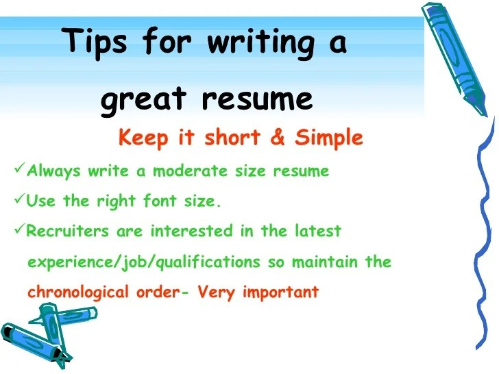 tips for a good resume - Boatjeremyeaton - tips for writing a resume