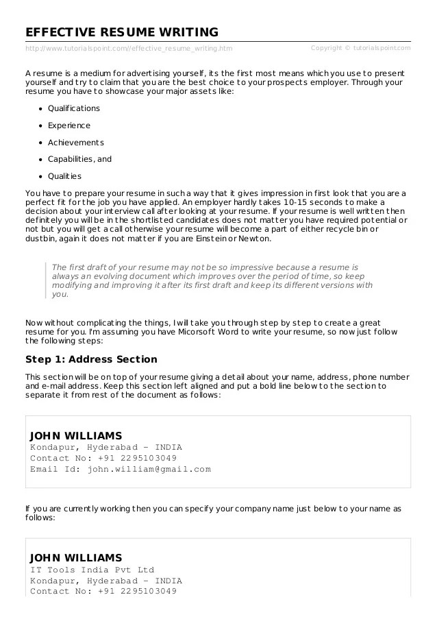 effective resume writing - Minimfagency